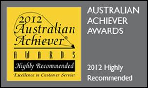 Australian Achiever Award 2012